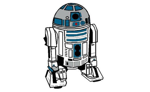 R2D2 Star Wars embroidery design R2-D2 machine Instant ...