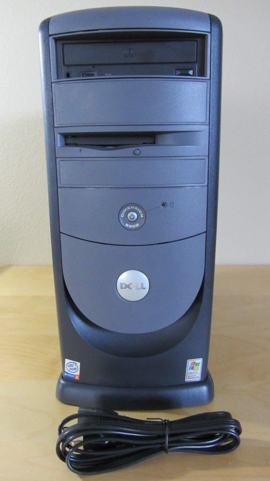 Dell Dimension 8200 P4 1.8GHz 256MB RAM 250GB Hard Drive CD-RW XP Core