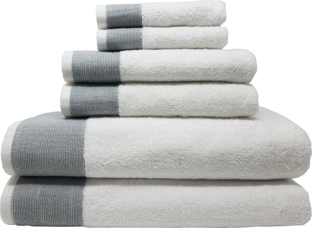Claudine 6 Piece Turkish Cotton Towel Set Turkish Cotton Towels Towel Set Towel