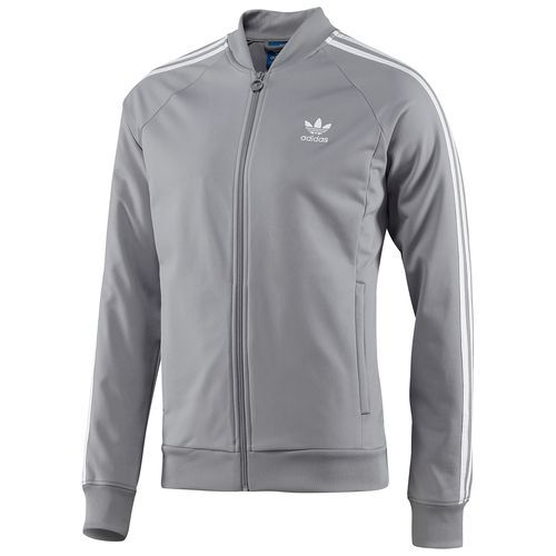 adidas superstar track top mid grey white f80724 xmas ideas rh pinterest com
