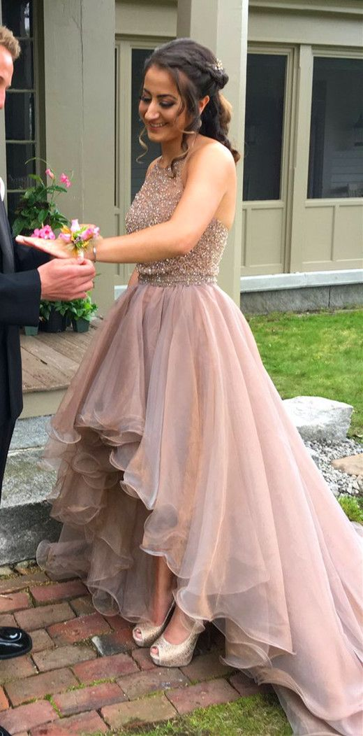 High-Low Halter A-Line 2018 Prom Dresses,Prom Dresses,Formal Women ...