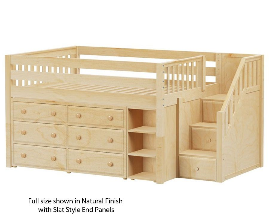 Maxtrix Great1 Storage Low Loft Bed With Stairs Bed Frames