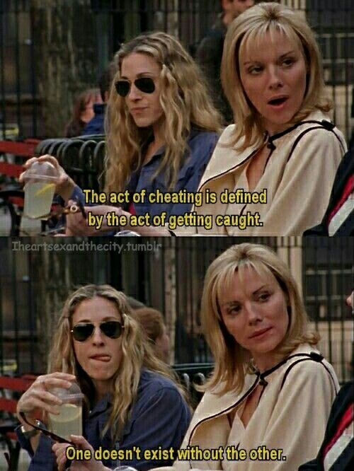 Sex and the city cheating quotes