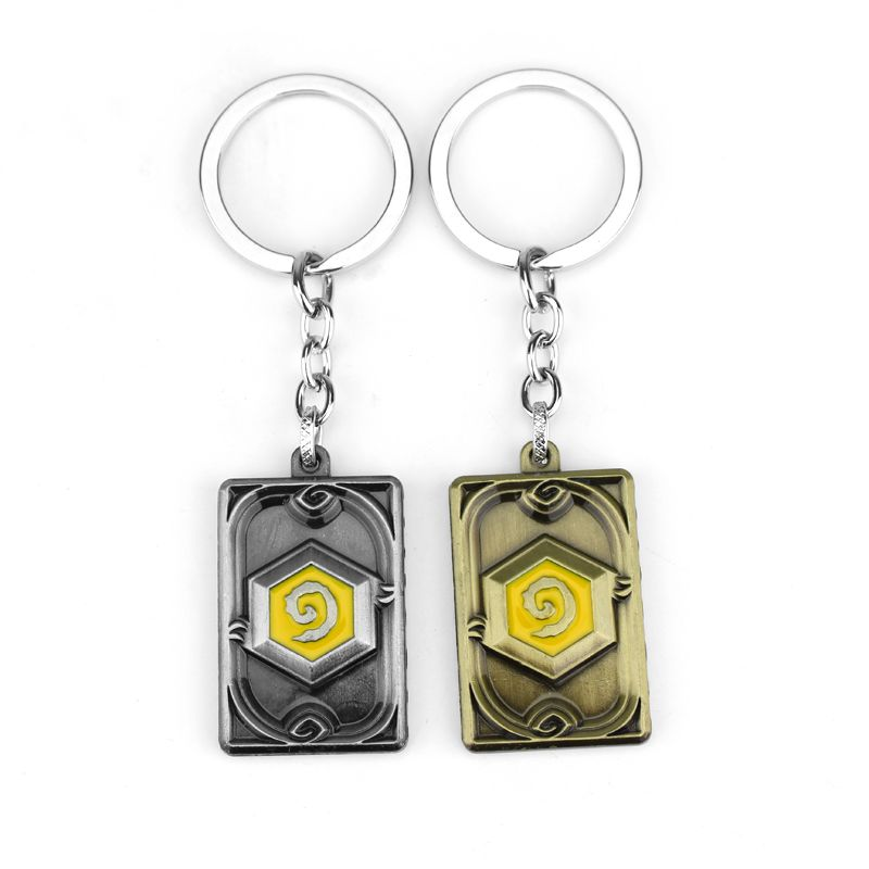 Game Peripheral WOW Logo Keychain Hearthstone Sculpted Metal Keyring