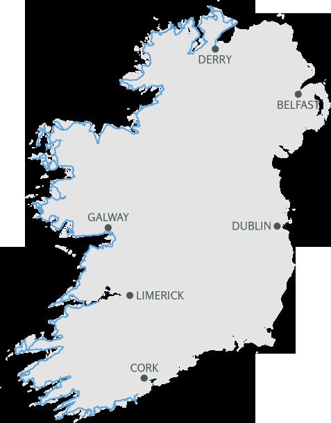 Irland Karte Rundreise.Wild Atlantic Way Irlands Spektakulare Kustenstrasse