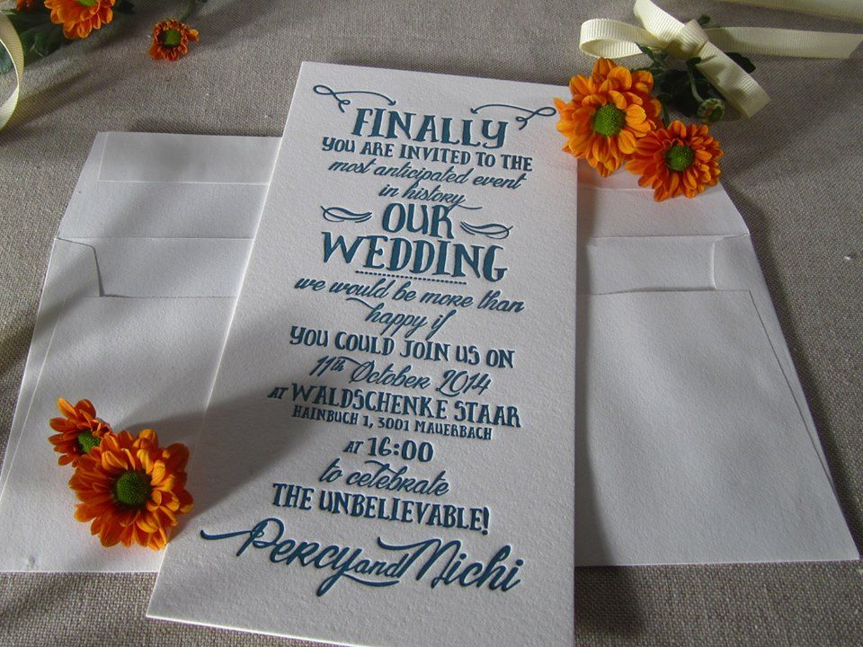 finally....typographic wedding invitation from #CarissimoLetterpress in deep turquoise
