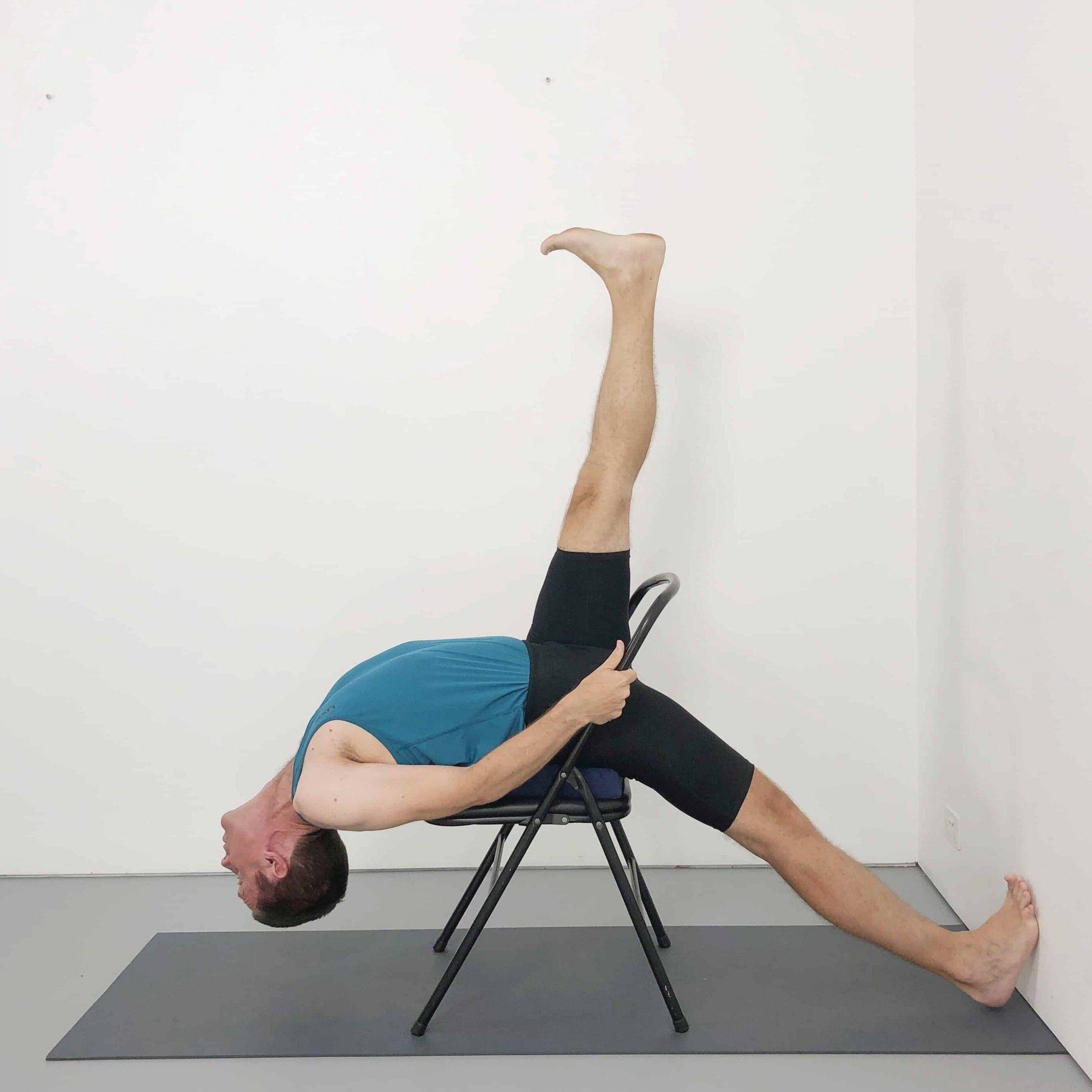Iyengar Yoga Chair Backbends Yoga Selection In 2020 Iyengar Yoga Yoga Backbend Yoga Sequences