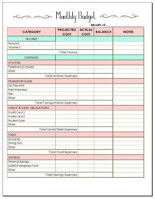 Need to personalize moreMONTHLY BUDGET TEMPLATE! Finances - home budget spreadsheet