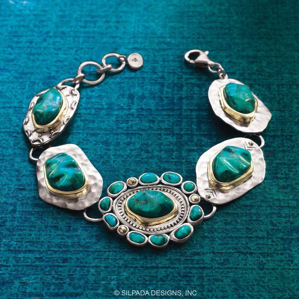 Silpadas Santa Fe Bracelet Sterling Silver Brass Compressed