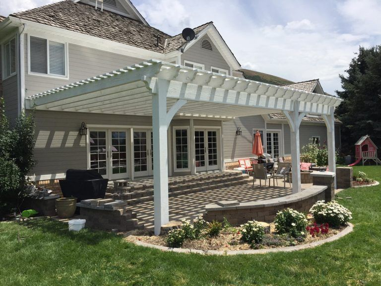 """Photo of """"WOW"""" 20′ x 30′  White Timber Fast & Easy Patio Shade"""
