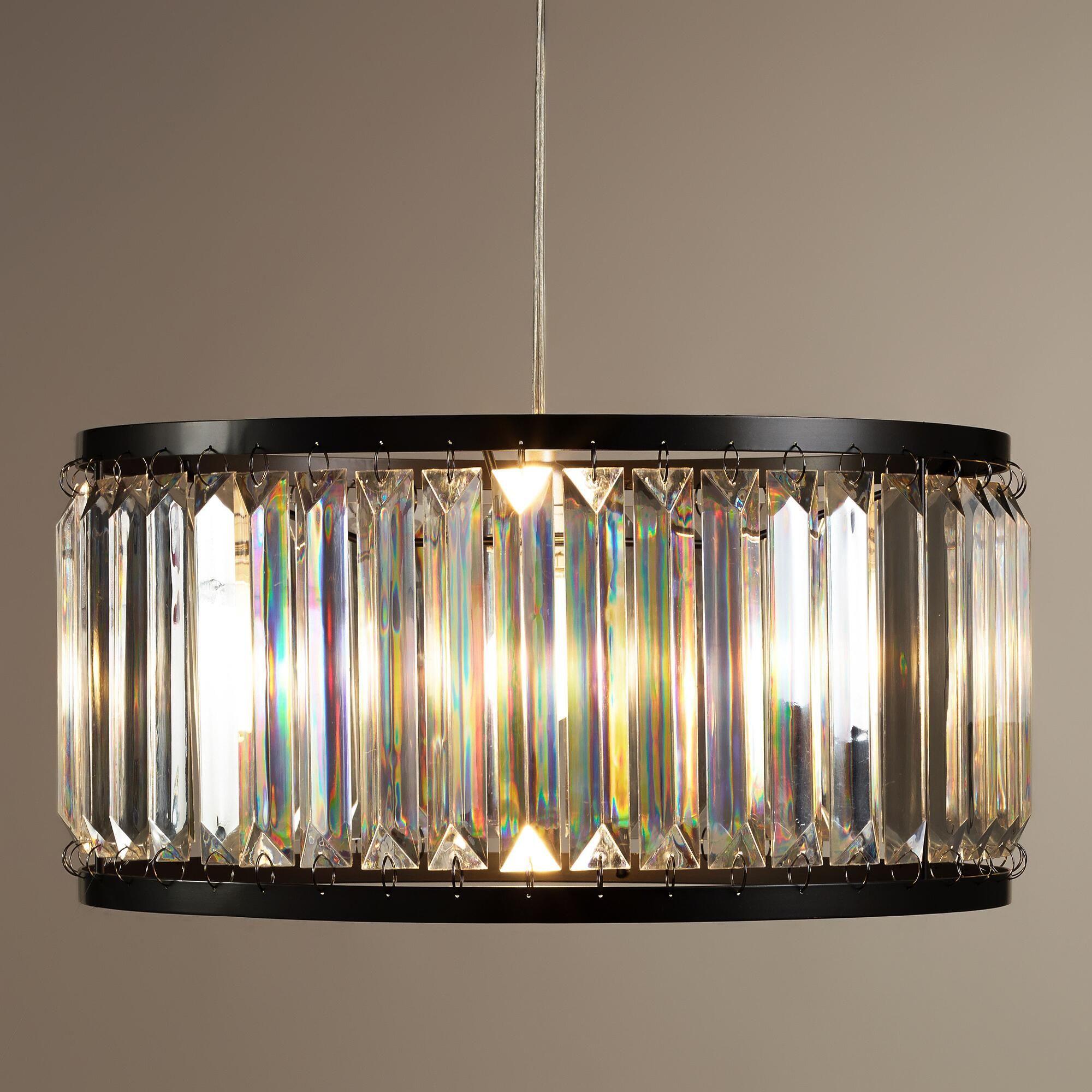 acrylic drum pendant lamp world market lighting