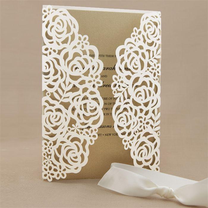 Cricut Explore Wedding Invitations: Victorian Lace Laser Cut Wrap II Wedding Invitations