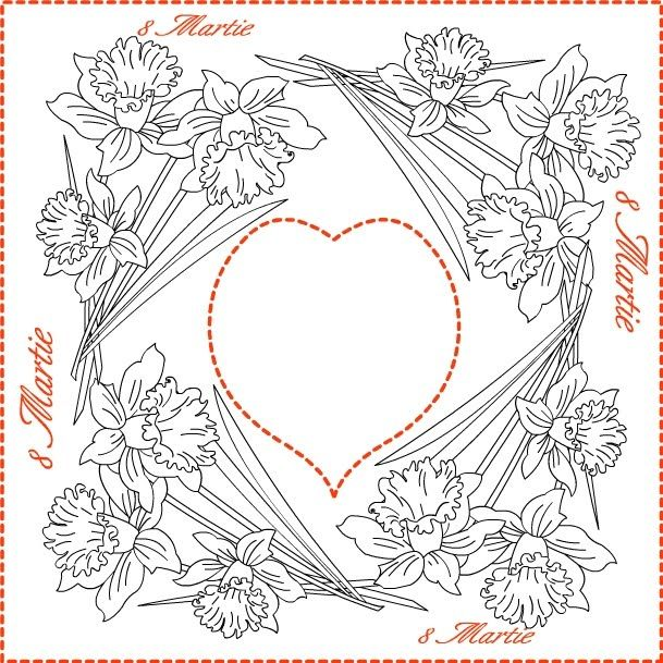 nicoles free coloring pages 8 martie coloring spring greeting cards