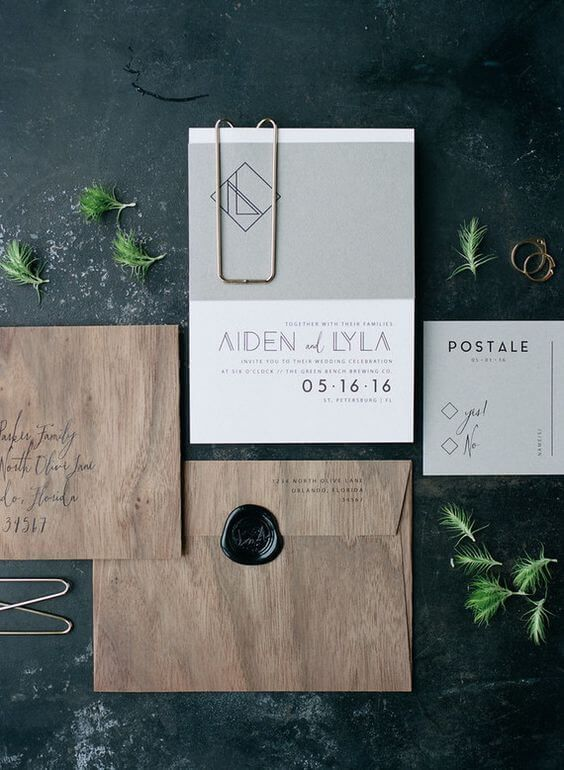 A Modern, Minimalist Wedding Colour Palette that Proves Less is More