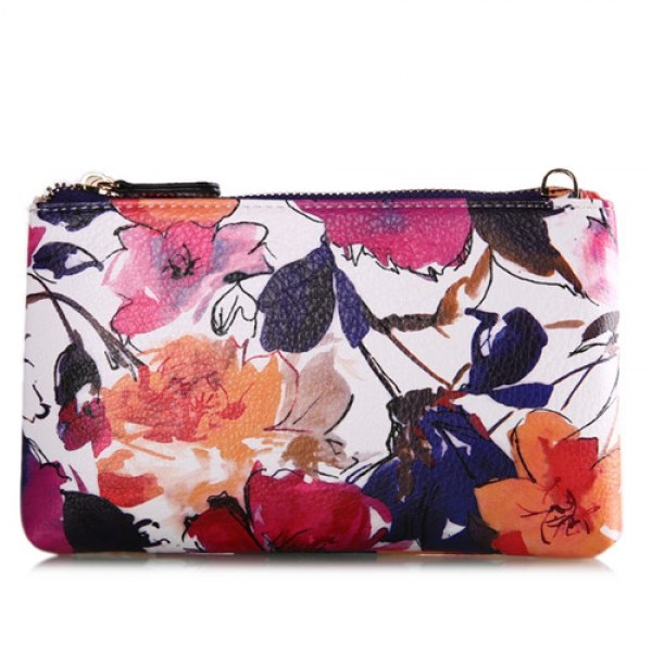 15.9$  Watch now - http://di345.justgood.pw/go.php?t=199576702 - Colored Floral Print Chains Pouch Bag