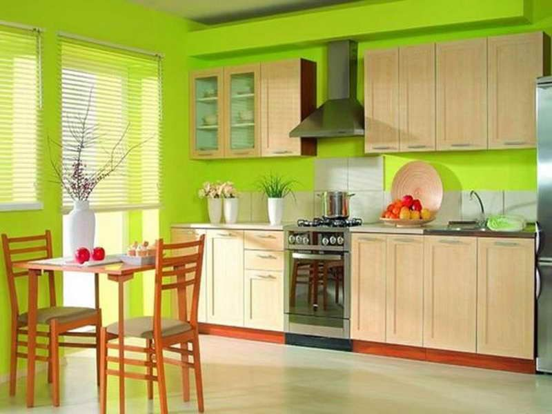 Interesting Chartreuse Color Wall Kitchen Cabinet | colors - green ...