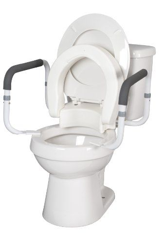 Hinged Toilet Seat With Arms Elongated With Arms Clicking On