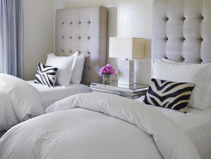 Tall Tufted Headboard Transitional Bedroom Berkley Vallone Bedroom Design Modern Chic Bedrooms Chic Bedroom