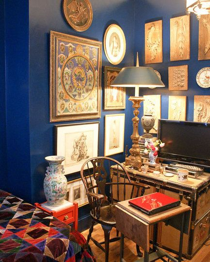 Nyc  like this color on the wall studio apartment decorating also randal   miniature english country house future rh pinterest