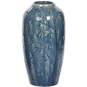 Hosley Ceramic Floral Vase, Blue