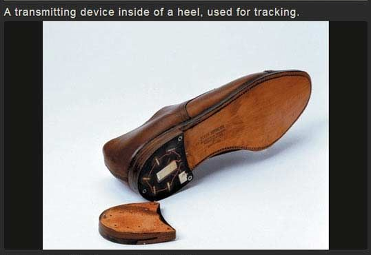 straight out of get smart a tracking device hidden inside the heel Human Tracking Devices straight out of get smart a tracking device hidden inside the heel of a shoe not sure this would work on a lady s pump with stiletto heels though rats