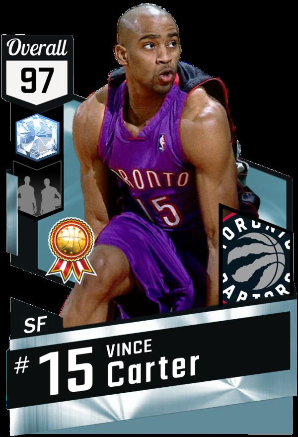 00 Vince Carter 97 Myteam Diamond Card Nba Basketball Games Online Nba Players