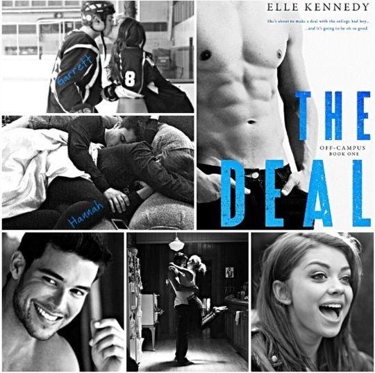(...) No segundo em que entro na sala, me deparo com os noventa quilos e os quase dois metros de Garret Gaham bloqueando o caminho.(...)Ele cruza os braços sobre o peito, uma pose que faz os bíceps flexionarem. Reparo na pontinha de uma tatuagem aparecendo debaixo da manga, mas não dá pra ver o que é (...) O Acordo - Amores Improváveis - Elle Kennedy Título Original : The Deal