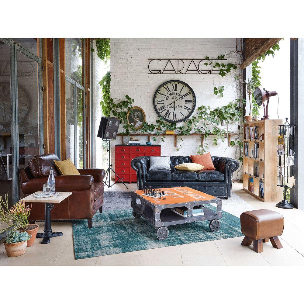 Salon ambiance industrielle  Maisons du Monde  Mobilier de salon