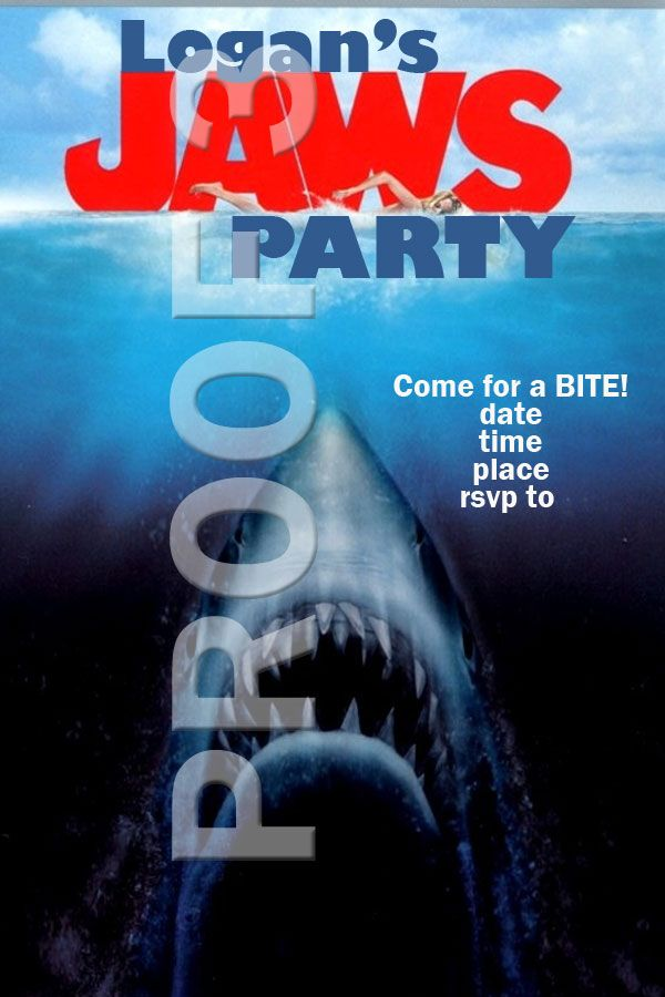 JAWS Party Invitations - order your invite at https://www.facebook ...
