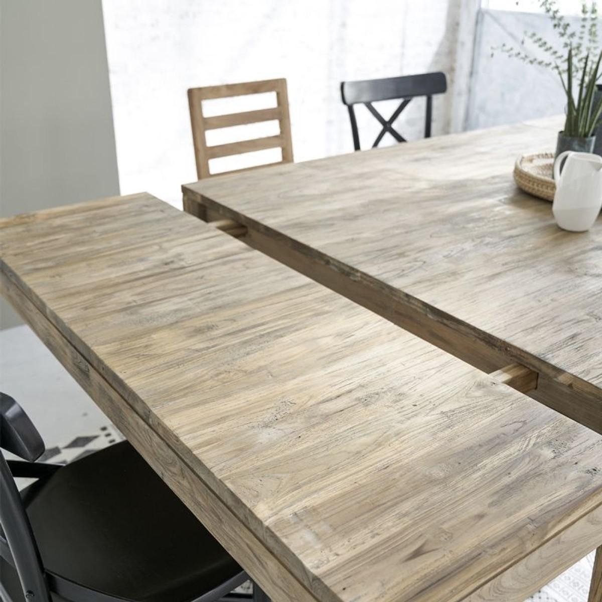 Table En Bois De Teck Recyclé Avec Rallonges 10 À 12 ...