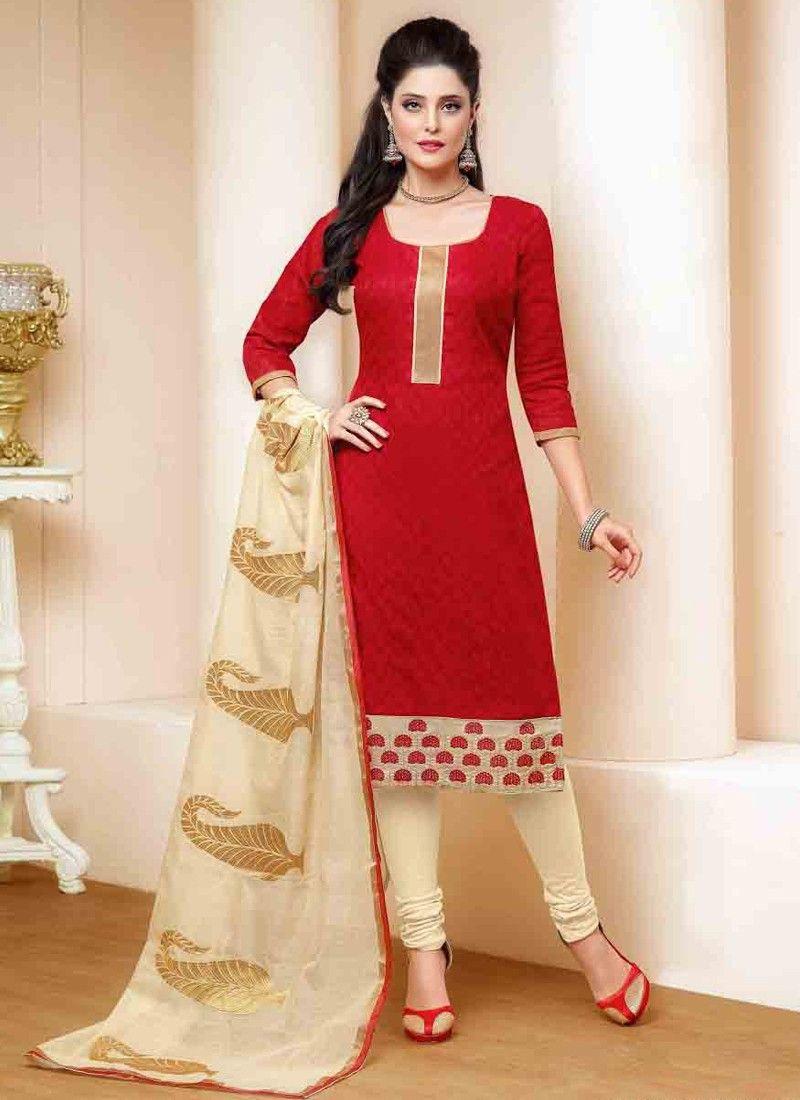 Astonishing Red Coloured Lakda Cotton Jacquard Printed Indian ...