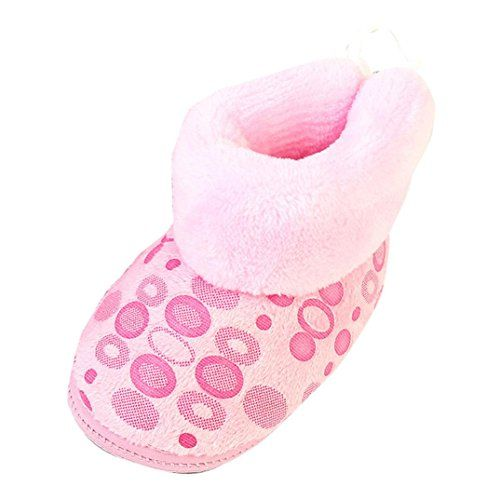 6c8f1124118 Baby Shoes Warm Toddler Infant Newborn Baby Print Boots Soft Sole Boots  Prewalker Winter Shoes (1-12 Month