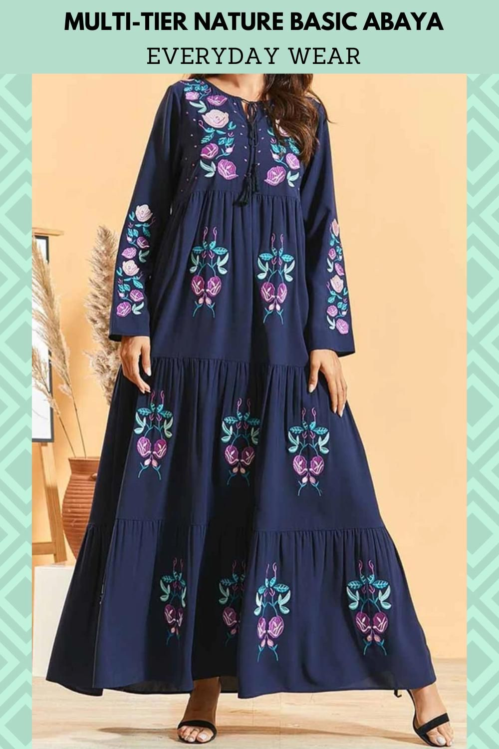 Multi Tier Nature Basic Abaya For Everyday Wear Video Abayas Fashion Dresses By Length Dresses