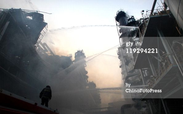 Browse Firefighters Battle PetroChina Oil Refinery Blaze In Dalian latest  photos. View images and find out more about Firefighters Battle PetroChina  Oil ...