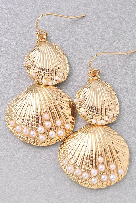 e5bc844b1 By the Seashore Gold Earrings | That Extra Touch | Lace Anchor ...