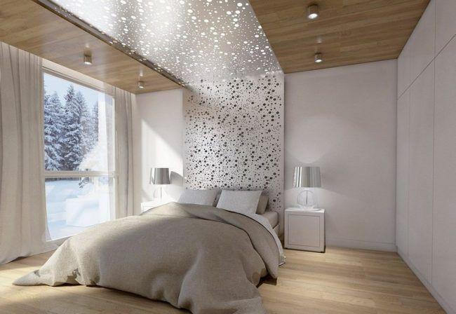 Schlafzimmer Ideen Weiss Lochblech Bett