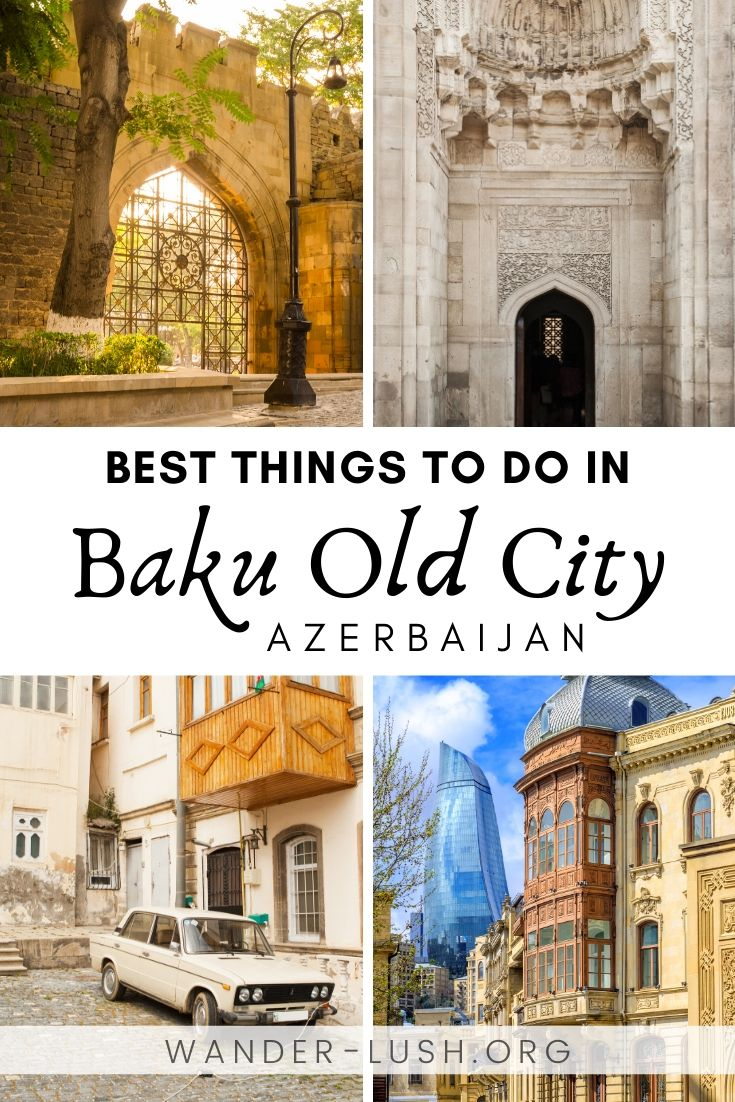 Baku's historic core, the walled Old City or Icherisheher, is a must-visit in Azerbaijan. This guide to Baku Old City shows you 15 things you absolutely can't miss, plus practical tips for planning your visit. #Azerbaijan #Baku #Caucasus | Baku travel | Things to do in Baku | Azerbaijan travel | Azerbaijan photography | Baku City