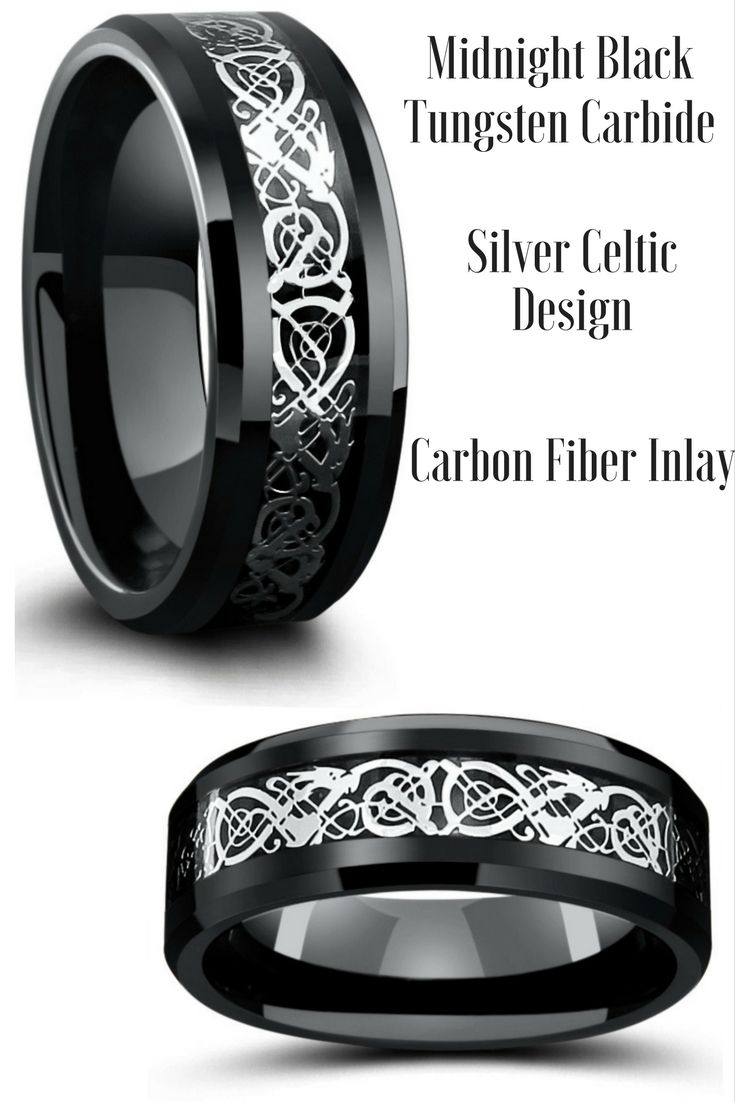 Mens Celtic Wedding Rings Crafted Out Of Tungsten Carbide The Celtic Designed Is Resting On Top O Mens Celtic Wedding Bands Celtic Wedding Rings Wedding Rings