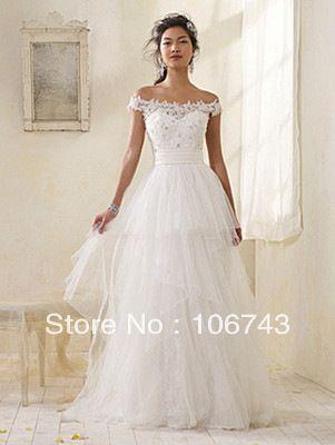 free shipping 2014 new style lace bride dress sweet princess Custom  handmade white debutante dresses cinderella wedding dress US  144.00 44f7d1ce7923