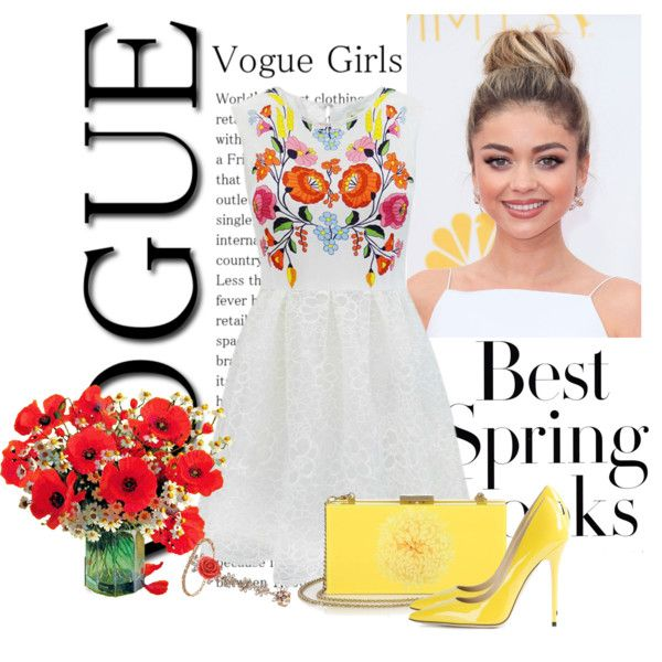 Best Look of Spring by defineyourstyle on Polyvore featuring polyvore, fashion, style, Jimmy Choo, Alice + Olivia, Mawi, H&M, clothing and Spring2015