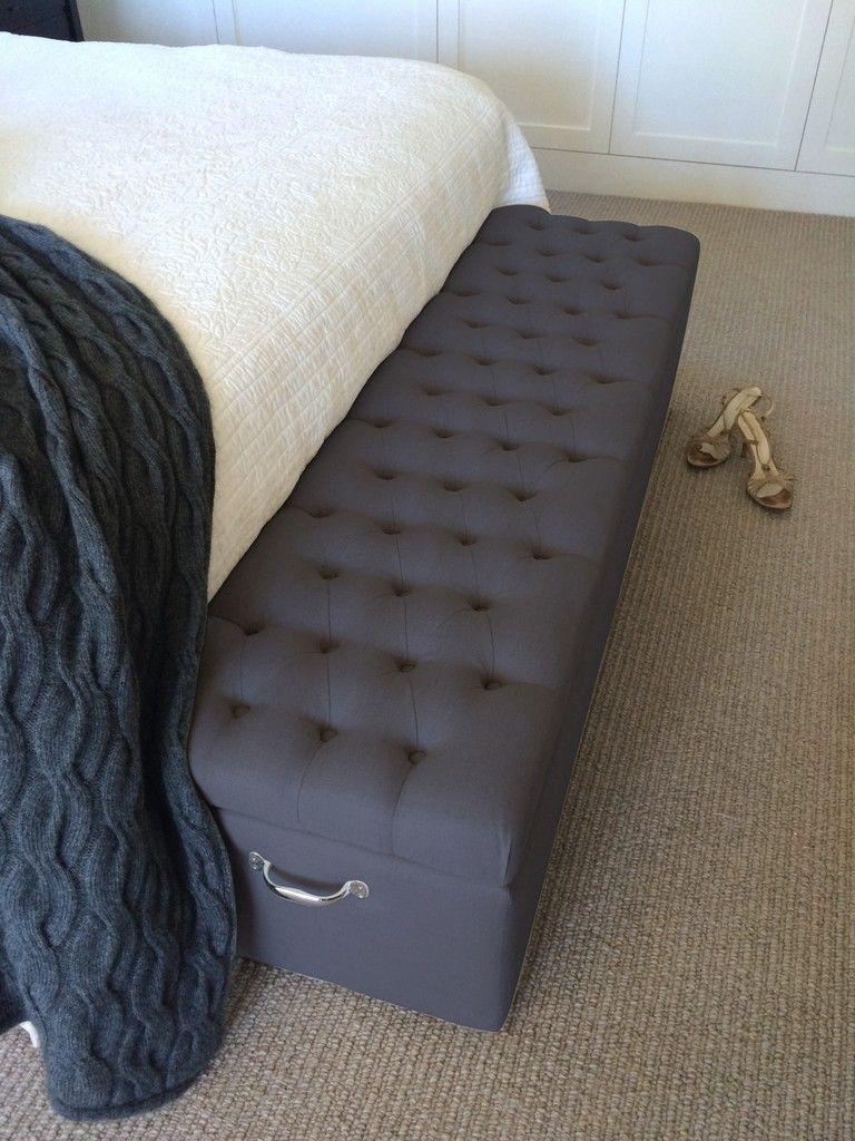 Charcoal Linen Blanket Box Blanket Box Bed Furniture Design Bedroom Cupboard Designs