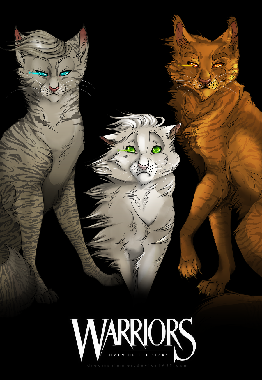 Jayfeather, Dovewing and Lionblaze Warrior cats art