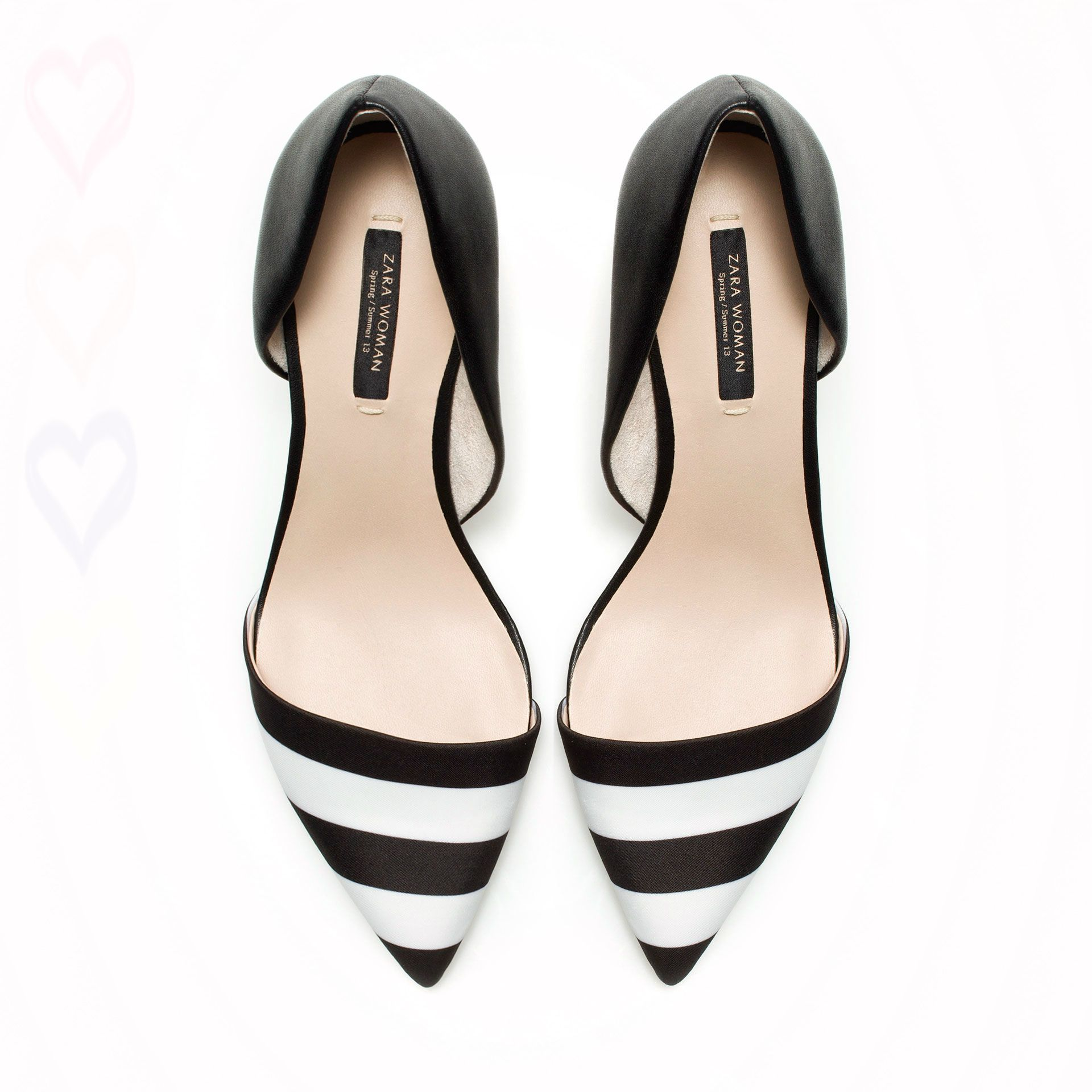 Black And White Shoes Heels