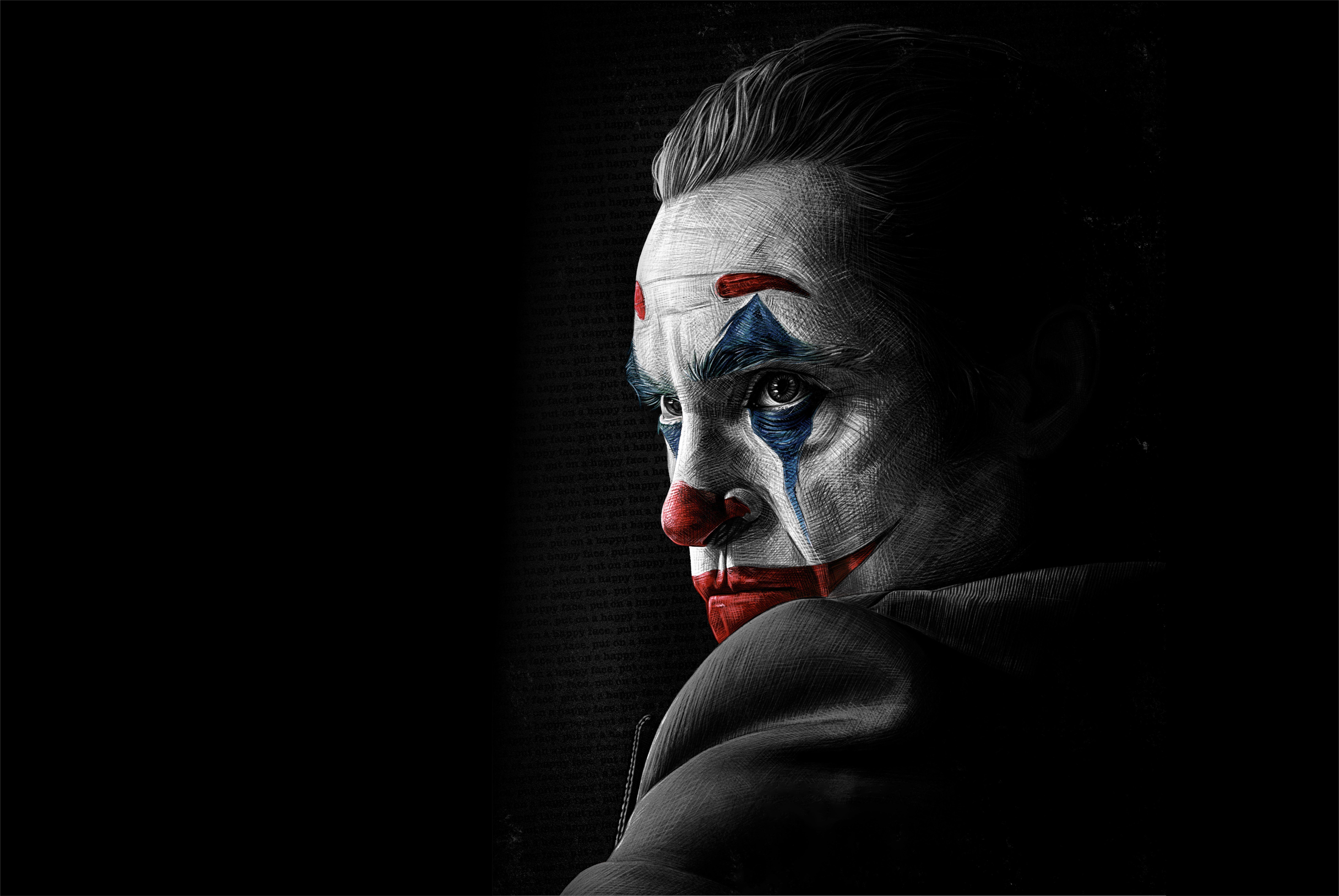 Figure Paint Art Joker Art Joker Joaquin Phoenix Joaquin Phoenix 2019 8k Wallpaper Hdwallpaper Desktop Joker Wallpapers Joker Hd Wallpaper Joker
