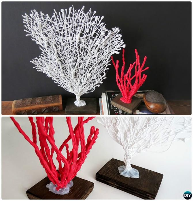 Diy hot glue coral home decoration instruction diy hot for Hot glue guns for crafts