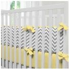Carousel Designs Gray and Yellow Zig Zag Crib Bumper