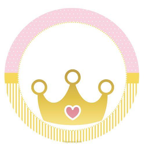Corona Dorada Con Rosa Etiquetas Para Candy Bar Para