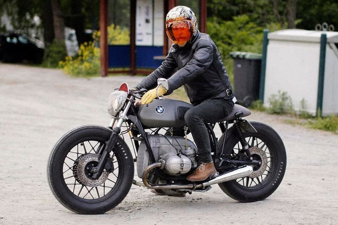 BMW R100RT Cafe Racer by Jon Arthur Sørensen - Triumph 140 tank, Firestone tires, lowered 8cm #motorcycles #caferacer #motos | caferacerpasion.com