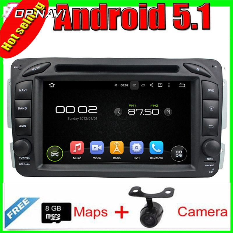 7'' Quad Core Android 5 1 Car GPS For ML W163 (2002-2005)/CLK W209
