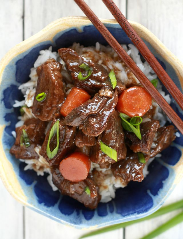 Simple Braised Beef Recipe For Savory Sweet Tender Chunks Of Beef That Is Rich Of Flavor And Spices Inspi Braised Beef Recipes Diced Beef Recipes Braised Beef